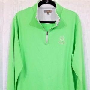 Peter Millar XL Golf Pullover green long sleeve C